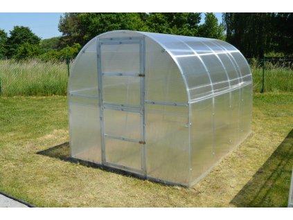 skleník LANITPLAST KYKLOP 2x3 m PC 4 mm  + Čisticí prostředek na desky z polykarbonátu + Teploměr / vlhkoměr do skleníku 2v1, ZDARMA!