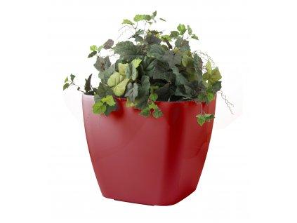 Samozavlažovací květináč G21 Cube maxi červený 45 cm