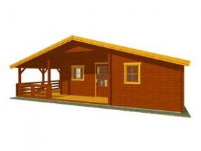 Zahradní dřevěná chata EVELÍNA 33