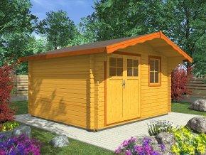 Zahradní domek na nářadí LAURA EKO 350x300  dvoukřídlé dveře, čelní přesah 70 cm