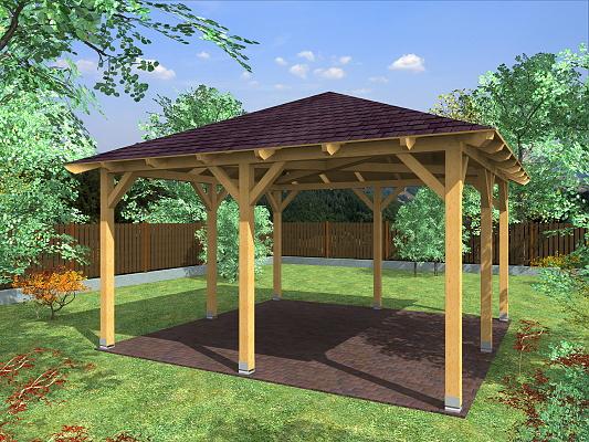Zahradní altán ATELIER KVH rozměr: 400x400 cm
