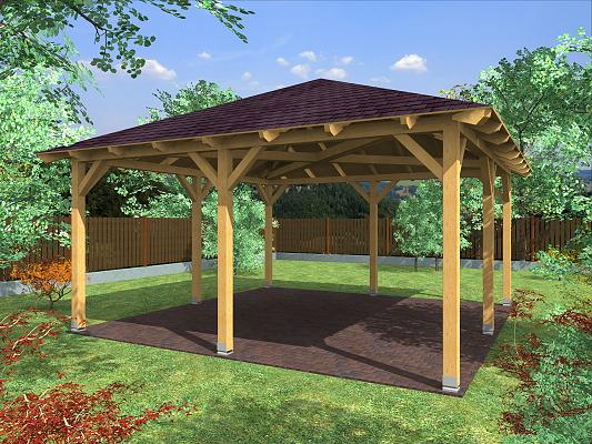 Zahradní altán ATELIER KVH rozměr: 450x450 cm