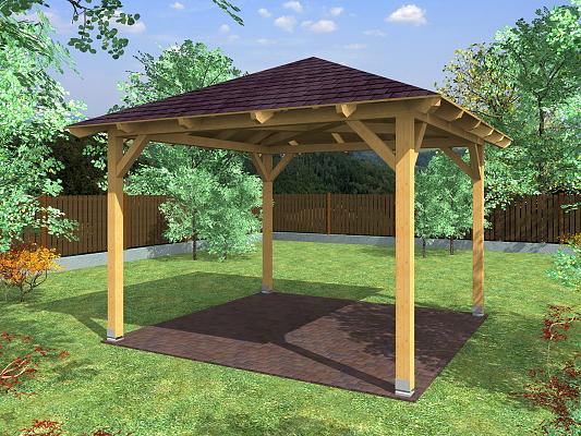 Zahradní altán ATELIER KVH rozměr: 300x300 cm