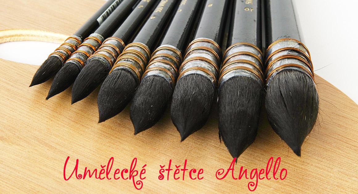 umělecké štětce Angello