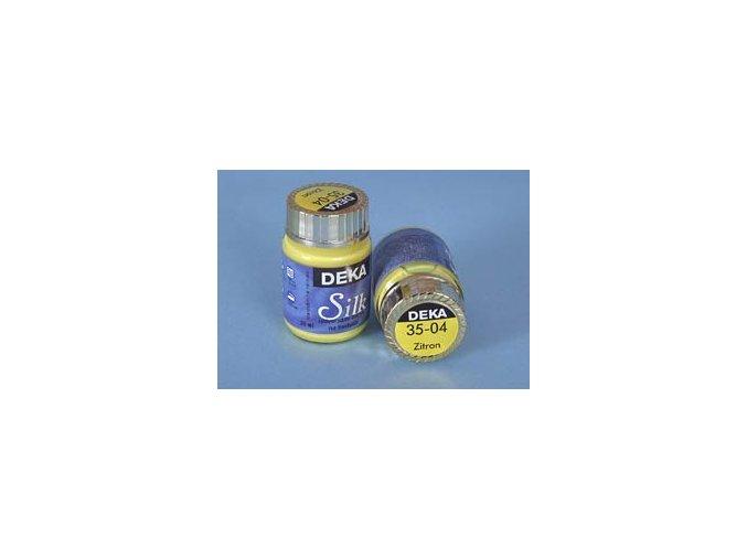 Barva na hedvábí Deka Silk 35-04 citrónová 25 ml