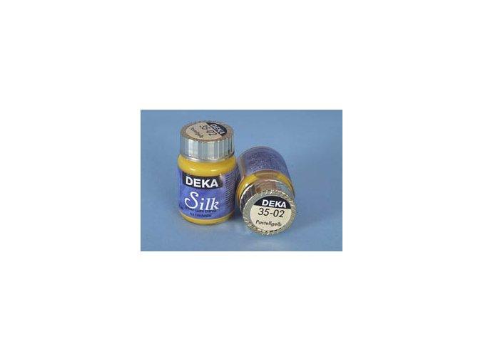 Barva na hedvábí Deka Silk 35-02 pastelově žlutá 25ml
