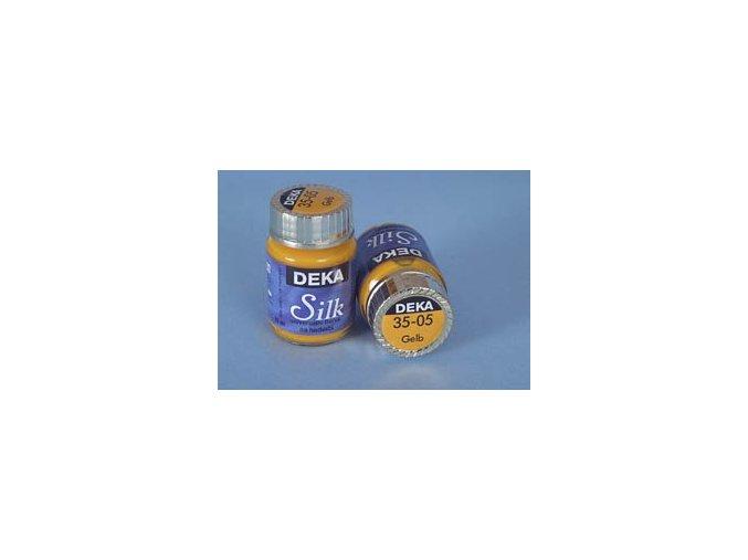 Barva na hedvábí Deka Silk 35-05 žlutá 25 ml