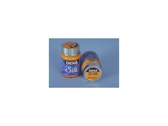 Barva na hedvábí Deka Silk 35-08 mandarinková 25 ml