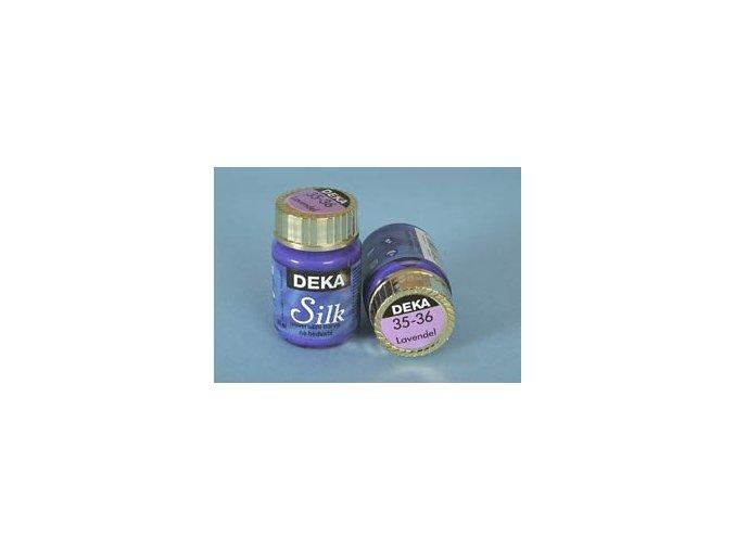 Barva na hedvábí Deka Silk 35-36 levandulová 25 ml