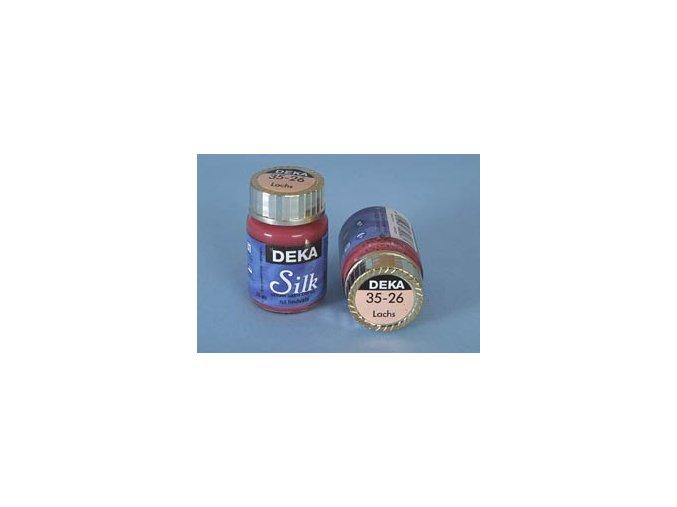 Barva na hedvábí Deka Silk 35-26 lososová 25 ml