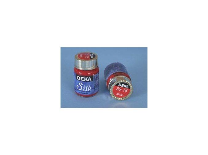 Barva na hedvábí Deka Silk 35-18 červená 25 ml