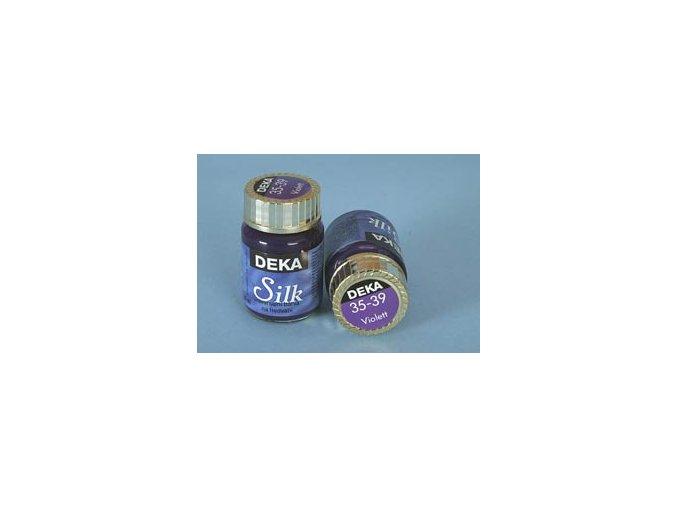 Barva na hedvábí Deka Silk 35-39 fialová 25 ml