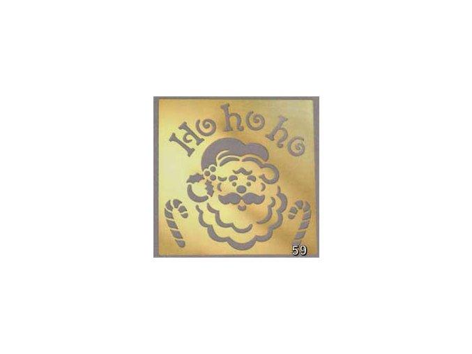 Kovová šablona 7,6 x 7,6 cm  Santa