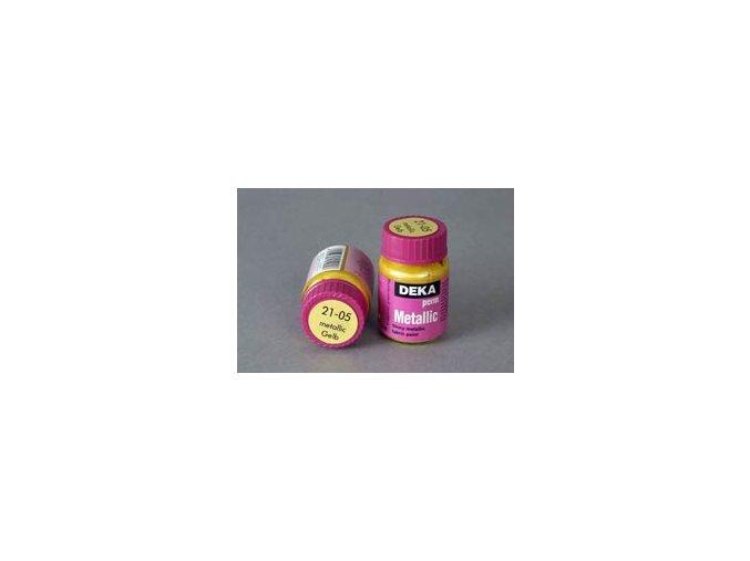 Barva na textil Deka Perm Metallic 21-05 500 ml žlutá