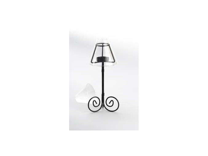 Kovová lampa 25 cm  na čajovou svíčku