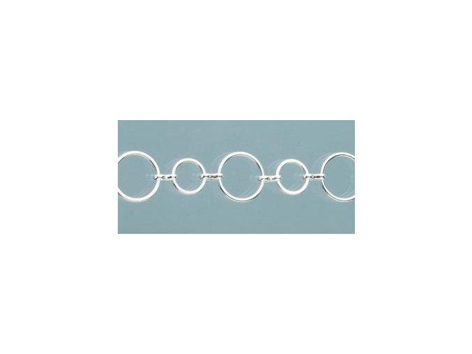 Řetízek postříbřený, 25 cm 9746291