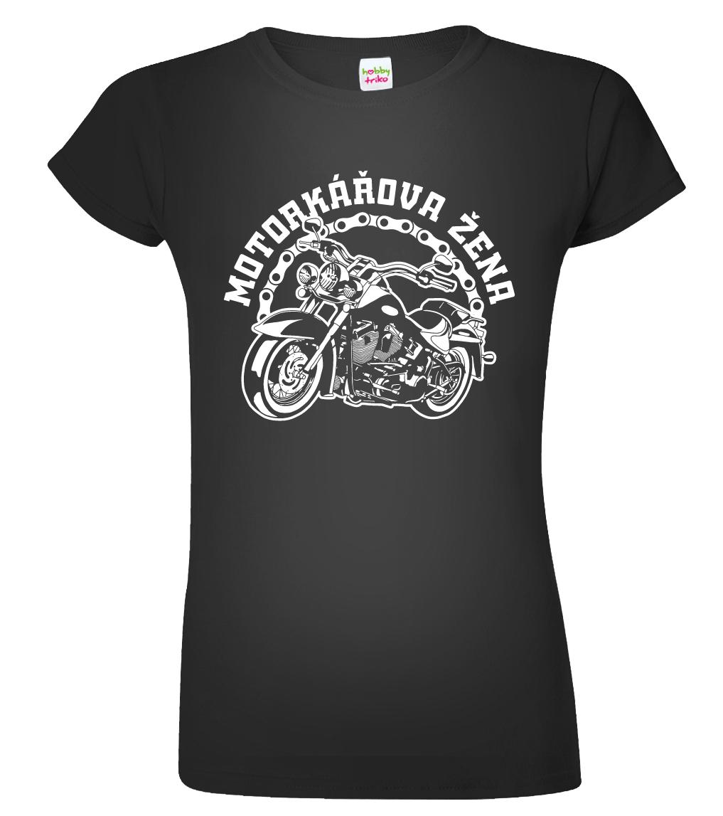 457350e18d6e Dámské motorkářské tričko - Motorkářova žena - www.HobbyTriko.cz