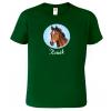 Pánské tričko s koněm - Koňák