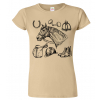 Dámské tričko s obrázkem - motivem koně