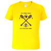 Tričko pro včelaře Po včelách med zluta