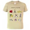Cestovatelské tričko - Barevné cestovatelské symboly