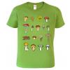 Tričko s houbami. Dárek pro houbaře.