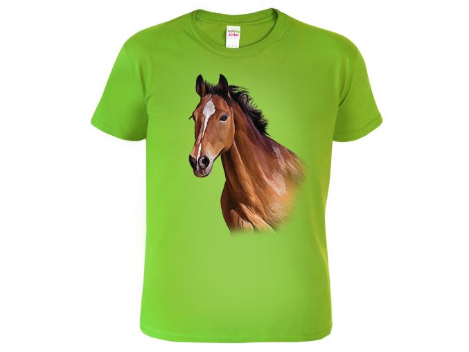 Dětské tričko s koněm - Hnědák