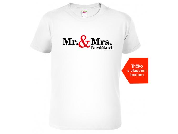 svatební dar - tričko pro novomanžele