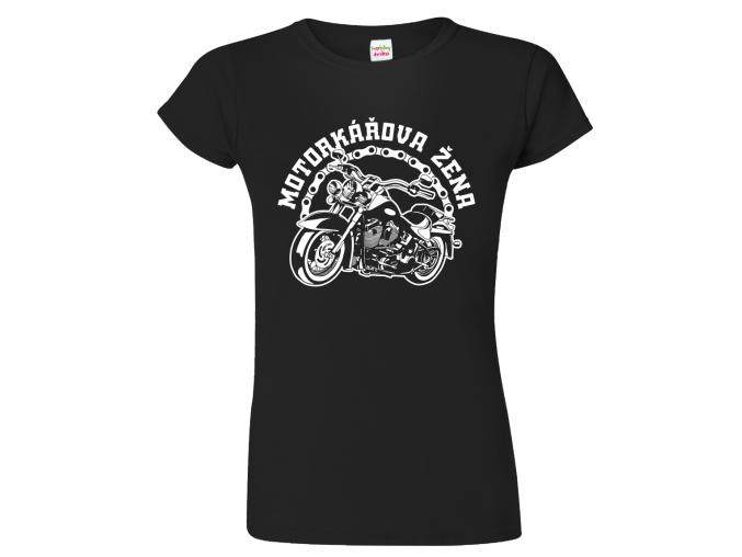 Tričko pro páry - Motorkářova žena