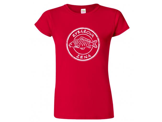 Tričko pro páry - Rybářova žena