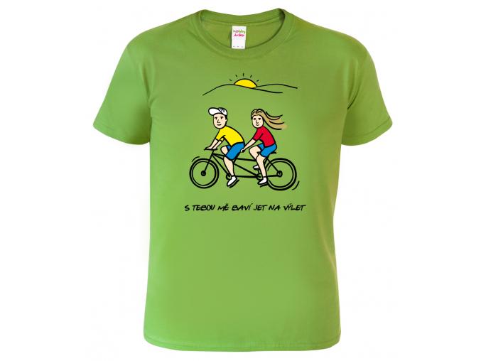Tričko pro páry - S tebou mě baví jet