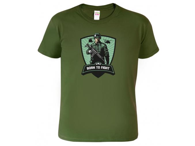 Vojenské tričko - Born to Fight