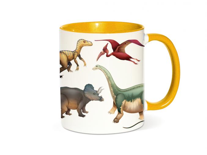 Hrneček s dinosaurem