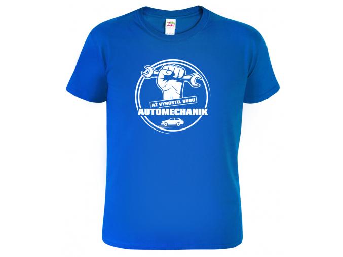 Dětské tričko Až vyrostu budu automechanik