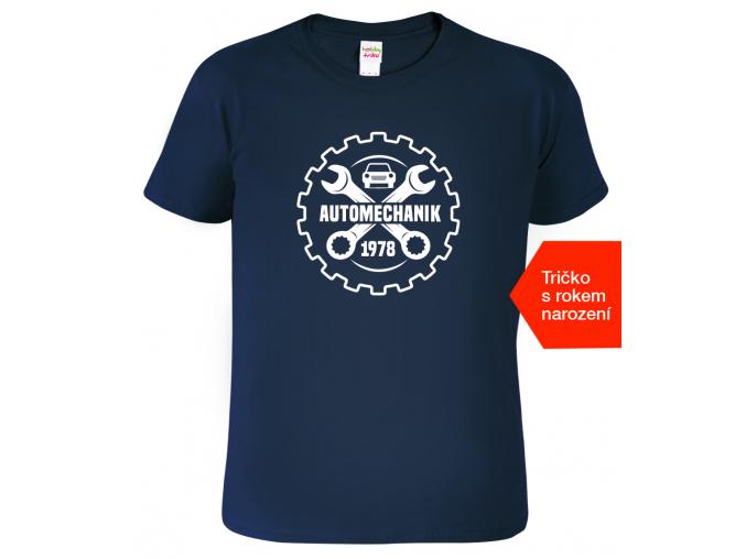 Tričko k narozeninám pro automechanika - Automechanik+rok