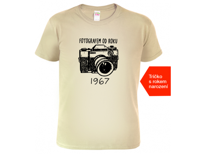 Dárek pro fotografa Tričko Fotografem Sand