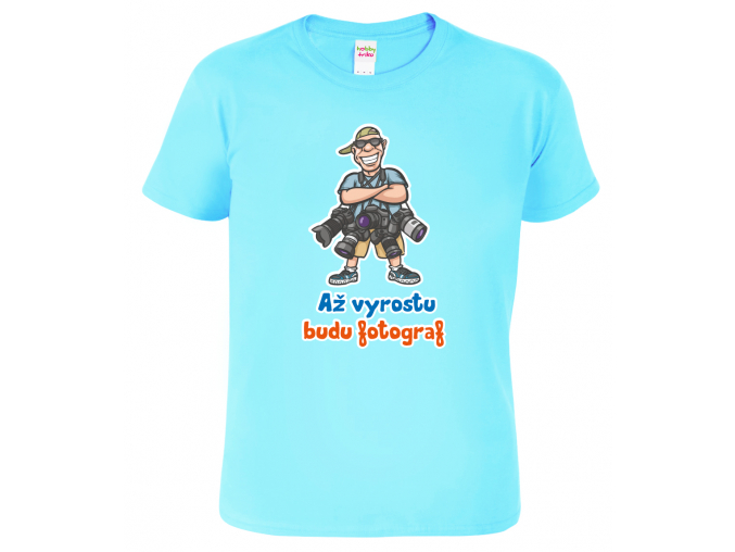 Dětské tričko pro fotografa Až vyrostu modre