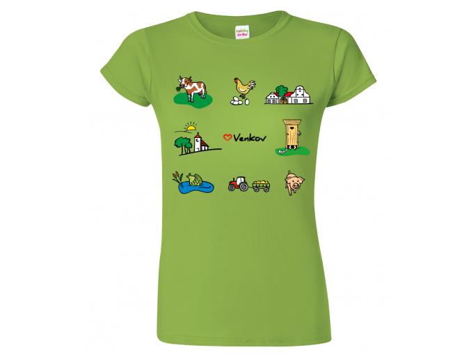 Tričko pro chalupáře - Symboly venkova