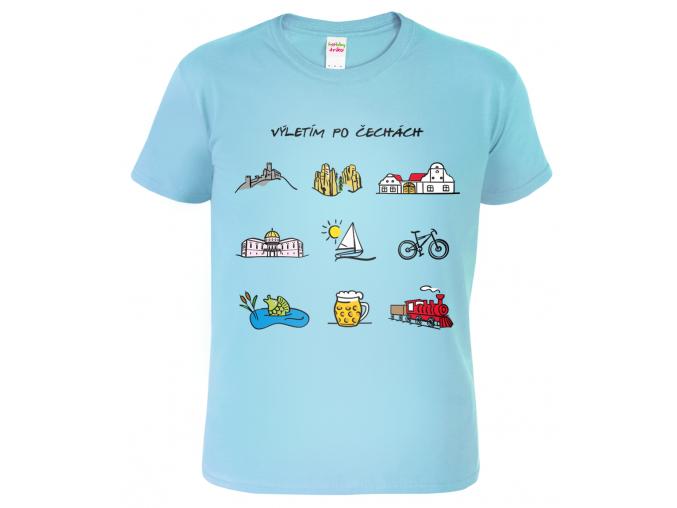 Cestovatelské tričko - Barevné České symboly