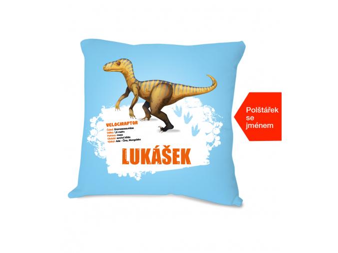 Dětský polštářek s dinosaurem