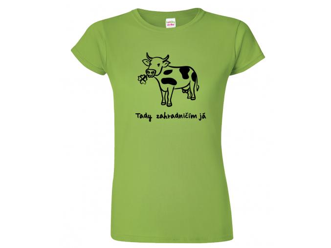 Dámské zahradnické tričko - Kráva