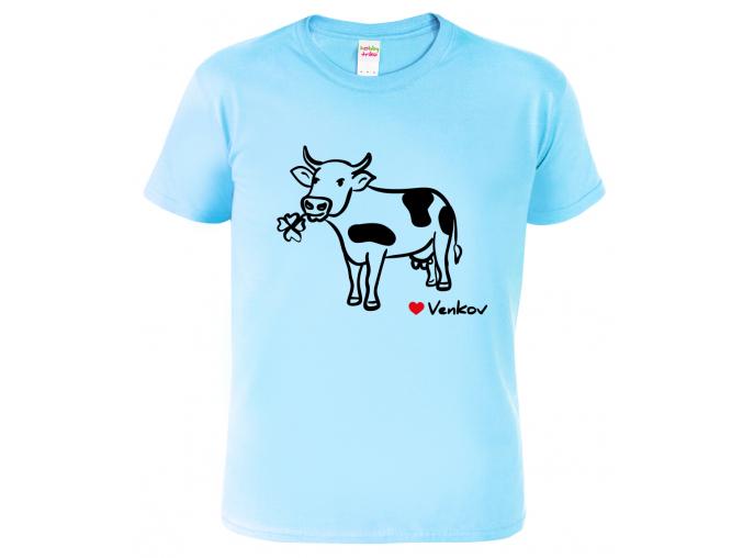 Triko dětské - Kráva - miluji venkov