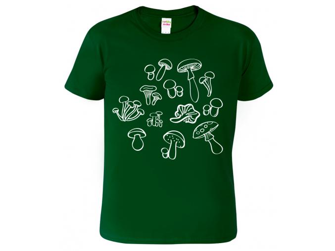 Houbařské tričko - Siluety hub