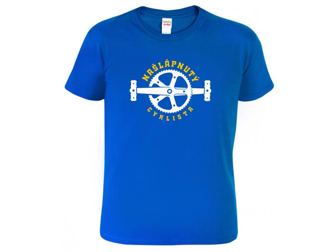 Pánské tričko pro cyklistu - Našlápnutý cyklista
