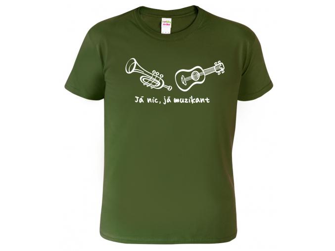 Pánské tričko pro muzikanta - Já nic, já muzikant