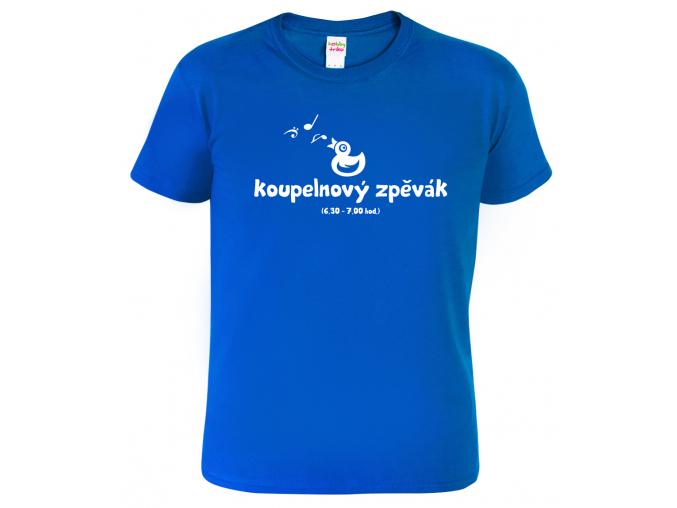 Pánské tričko pro zpěváka - Koupelnový zpěvák