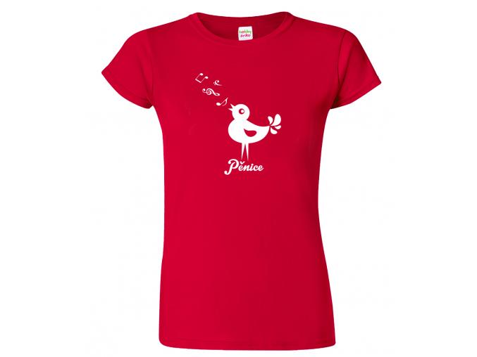 Dámské tričko pro zpěvačku - Pěnice (SLEVA)