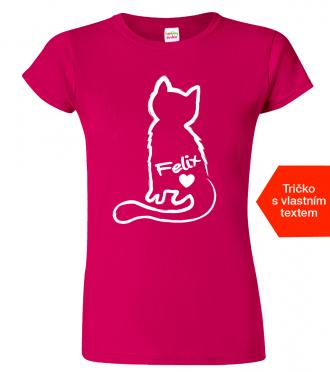 Dámské tričko s kočkou