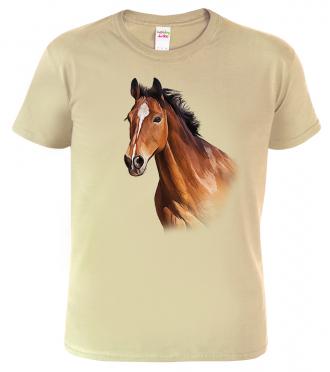 Pánské tričko s koněm - Hnědák