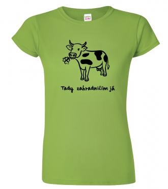 Dámské zahradnické tričko - Kráva (SLEVA)